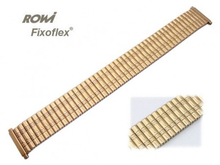Watch strap Fixoflex S expansion strap 18-22mm stainless steel golden elegant by ROWI