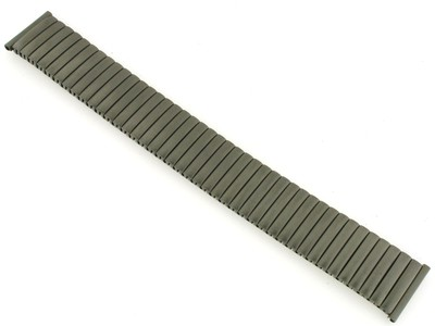 Klokkelenke Watch strap Fixoflex expansion band/strap 20mm Titanium by ROWI