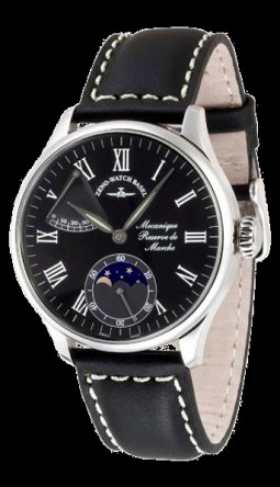 Zeno-Watch Basel Godat II Power Reserve + moon phase 6274PR-i1-rom