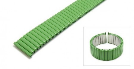 Watch strap Fixoflex S expansion strap 18mm stainless steel matt green by ROWI
