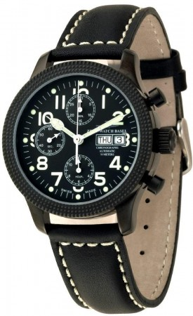 Clou De Paris Retro Chronograph Blacky 42 mm 11557TVDD-bk-e2
