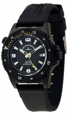Zeno-Watch Basel Professional diver Automatic Blacky yellow 42.5 mm 6427-bk-s1-9