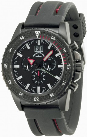 Zeno-Watch Basel Professional diver Automatic Chrono Big Date black+red 46 mm 6478-5040Q-bk-a1-7