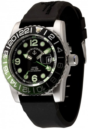 Zeno-Watch Basel Airplane diver 45 mm Automatic GMT Points (Dual Time)6349GMT-3-a1-8