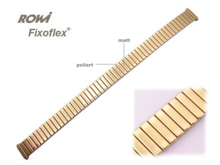 Watch band Fixoflex S expansion band telescopic end 10-12mm stainless steel golden-colored ROWI