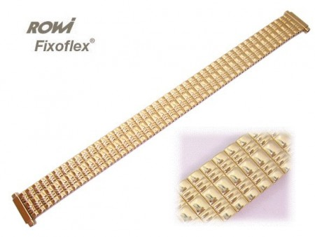 Watch strap Fixoflex S expansion strap 12-15mm stainless steel golden elegant by ROWI