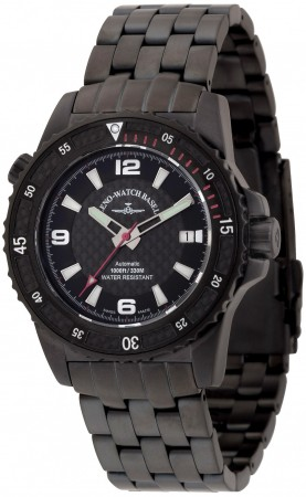 Zeno-Watch Basel Professional diver Automatic Blacky red 42.5 mm 6427-bk-s1-7M