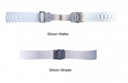 Silikon strap white 18/20mm