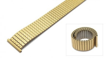 Watch strap Fixoflex S expansion strap 20mm stainless steel golden polished by ROWI