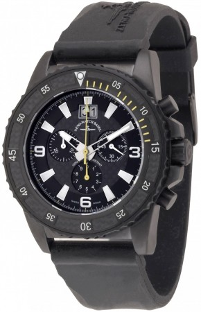 Zeno-Watch Basel Professional diver Automatic Chrono Big Date black+yellow 46 mm 6478-5040Q-bk-s1-9