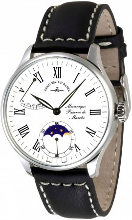 Zeno-Watch Basel Godat II Power Reserve + moon phase 44 mm 6274PRL-i2-rom