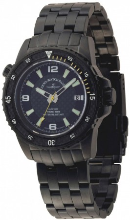 Zeno-Watch Basel Professional diver Automatic Automatic Blacky yellow 42.5 mm 6427-bk-s1-9M