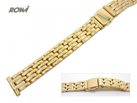 Watch strap 14mm stainless steel golden polished fashion by ROWI