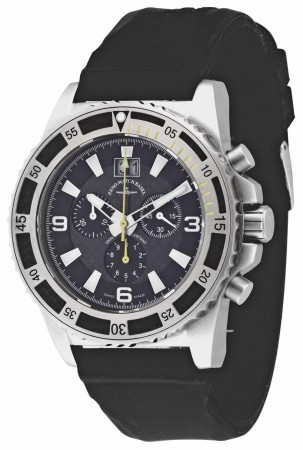 Zeno-Watch Basel Professional diver Automatic Chrono Big Date black+yellow 46 mm 6478-5040Q-s1-9