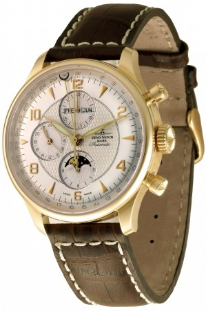 Zeno-Watch Basel Godat II Full Calendar Chrono gold 44 mm 6273VKL-GG-f2