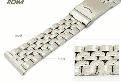 Watch band 20/22mm stainless steel multiple ends partly polished sporty elegant design by ROWI