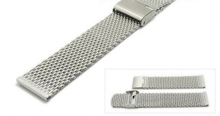 Watch strap 22mm stainless steel mesh medium heavy structure by ROWI