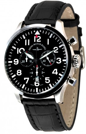 Precision Pilot Navigator Chronograph Quartz, black 44 mm 6569-5030Q-a1