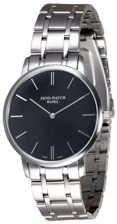 Zeno-Watch Basel Flatline-Flatline 2 black 40 mm