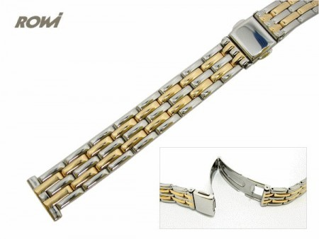 Watch strap 14mm stainless steel dual tone polished fashion by ROWI
