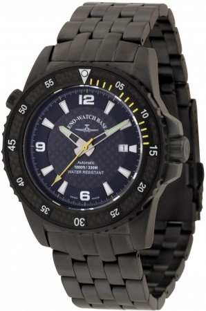 Zeno-Watch Basel Professional diver Automatic Blacky yellow 46 mm6478-bk-s1-9M