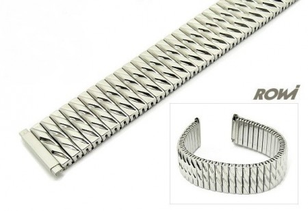 Watch band Fixoflex S expansion band telescopic end 18-22mm stainless steel silver-colored ROWI