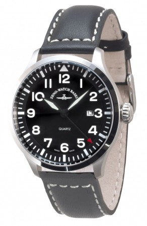 Precision  Pilot Quartz, black 44 mm 6569-515Q-a1