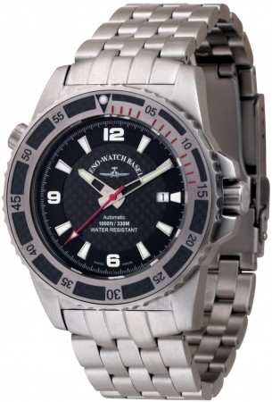 Zeno-Watch Basel Professional diver Automatic red 46 mm 6478-s1-7M