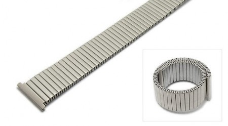 Watch strap Fletch expansion strap 20mm stainless steel silver matt ROWI