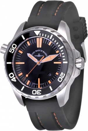 Zeno-Watch Basel Professional Diver 2. Pro Diver 2 black+orange 48 mm 6603Q-a15