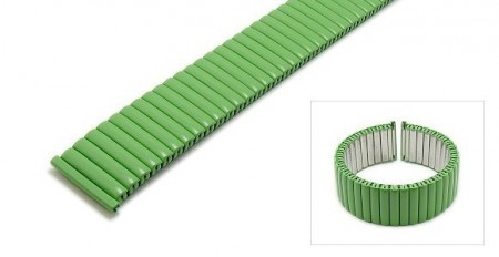 Watch strap Fixoflex S expansion strap 20mm stainless steel matt green by ROWI