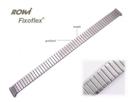 Watch band Fixoflex S expansion band telescopic end 10-12mm stainless steel silver-colored ROWI