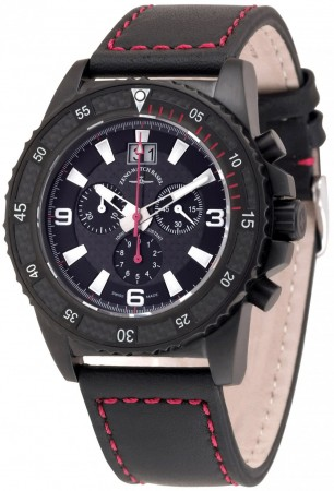 Zeno-Watch Basel Professional diver Automatic Chrono Big Date black+red 46 mm 6478-5040Q-bk-s1-7
