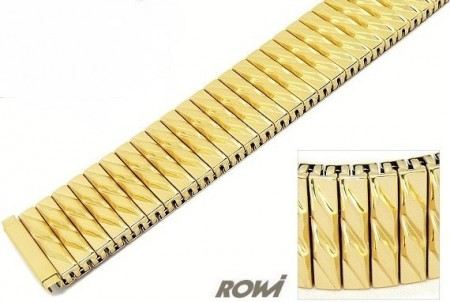 Watch band Fixoflex S expansion band telescopic end 20-24mm stainless steel golden extravagant ROWI