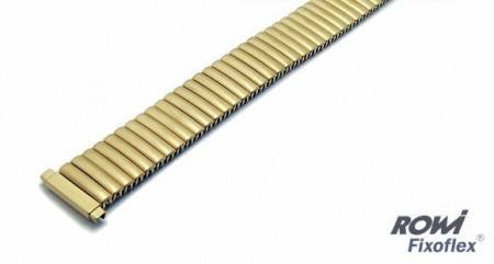Watch strap Fixoflex S expansion strap 14-17mm stainless steel golden classic by ROWI