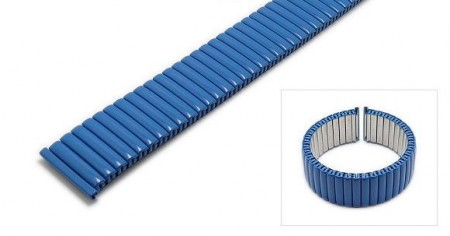 Watch strap Fixoflex S expansion strap 18mm stainless steel matt navy blue by ROW