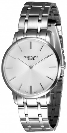 Zeno-Watch Basel Flatline-Flatline 2 gray 40 mm