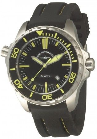 Zeno-Watch Basel Pro Diver 2 black+yellow 48 mm 6603Q-a19