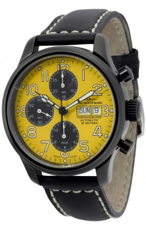 New Classic Pilot Blacky Chrono Day Date 42 mm 9557TVDD-bk-b91