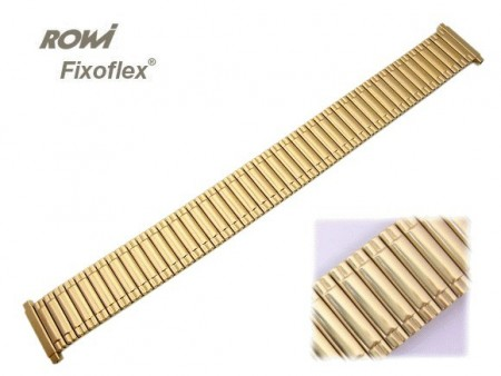 Watch band Fixoflex S expansion band telescopic end 16-20mm stainless steel golden-colored ROWI
