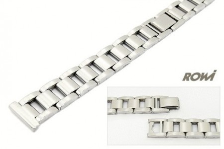 Watch strap 14mm stainless steel polished elegant by ROWI