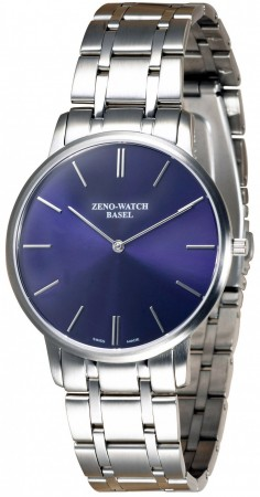Zeno-Watch Basel Flatline-Flatline 2 blue 40 mm