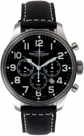 Oversized Pilot Chrono Tricompax Date 47.5 mm 8553THD-9-a1