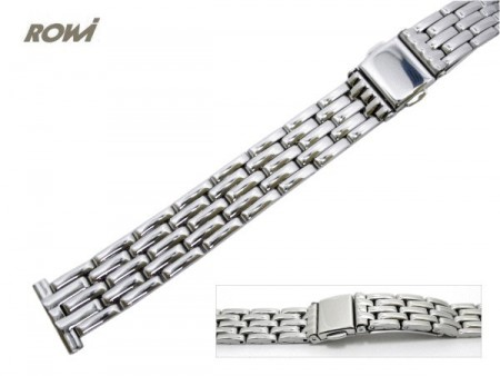 Watch strap 14mm stainless steel polished fashion by ROWI