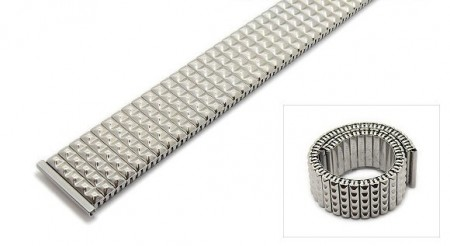 Watch strap Fixoflex S expansion strap 22mm stainless steel silver extravagant polished ROWI