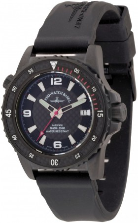 Zeno-Watch Basel Professional diver  Automatic Blacky red 42.5 mm 6427-bk-s1-7