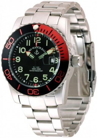 Zeno-Watch Basel Airplane diver 45 mm Automatic Numbers, black/orange 6349-12-a1-5M